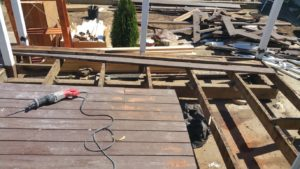 Everlast demolishes our deck, leaves trash in backyard
